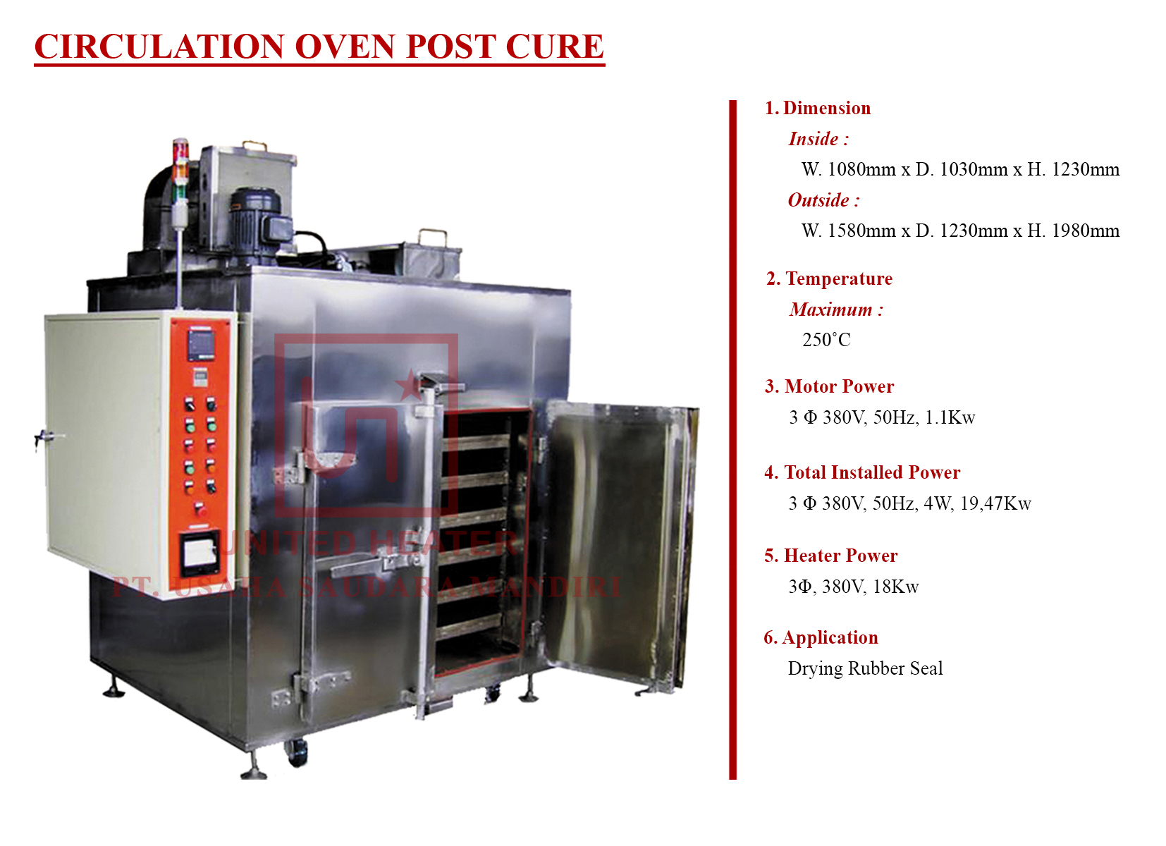 CIRCULATION OVEN POST CURE