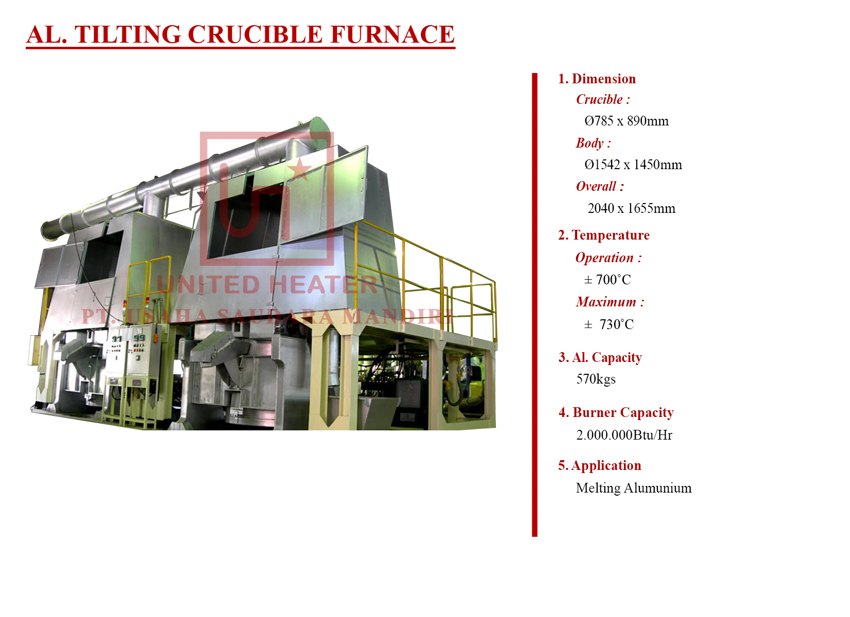 AL TILTING CRUCIBLE FURNACE